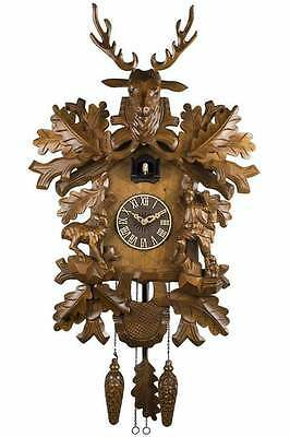 German Black Forest Handcrafted Cuckoo Clock-Large Deer with Little Fawn 6047