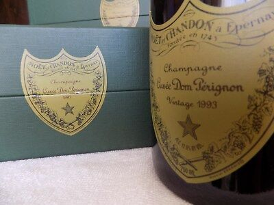 Vintage 1993 Cuvee Dom Perignon Champagne 750ML- in gift box with Booklet
