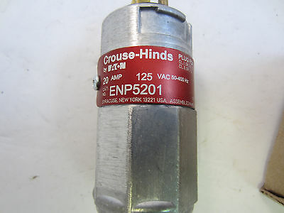 CROUSE HINDS ENP5201 EXPLOSION PROOF 20 AMP 120V PLUG NEW IN BOX  ecp2023