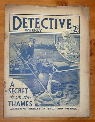 DETECTIVE WEEKLY No 93 1ST DEC 1934 THE SECRET FROM THE THAMES BY E.S. BROOKS