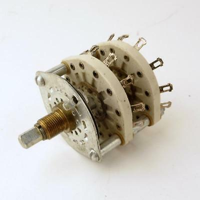 12 position 2 pole ceramic rotary switch -  shorting - make before break