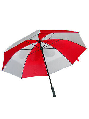 GustBuster Pro Series Gold Umbrella 62 Inch Red/White