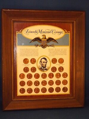 Lincoln Memorial Coinage Framed Coin Collection 29 Coin Set