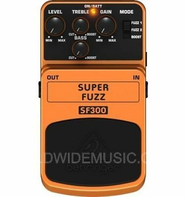 BEHRINGER SUPER FUZZ SF300 Pedal / Stomp Box NEW