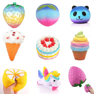 Lot Jumbo Squishy Slow Rising Stretch Squishies Stress Reliever Cute Toy Neue