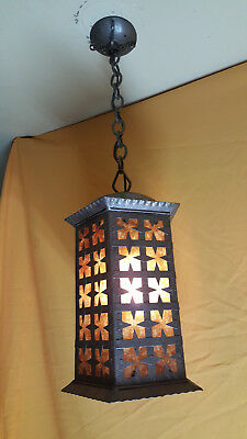 "Antique Spanish Revival / Gothic  Iron  Lantern ""Stunning"""