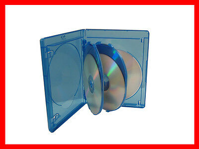 3 Pk VIVA ELITE Blu-Ray Replace Case Hold 5 Discs 15mm 5 Tray Storage Holder