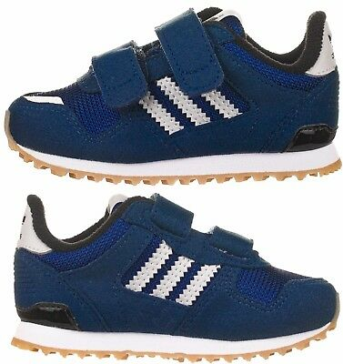 Adidas Originals Infants Little Boys Kids Zx 700 Navy Blue Trainers New Boxed