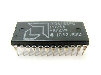 AMD AM8253PC / P8253  - Programmable Interval Timer - 24-Pin DIP NMOS IC *NOS!*