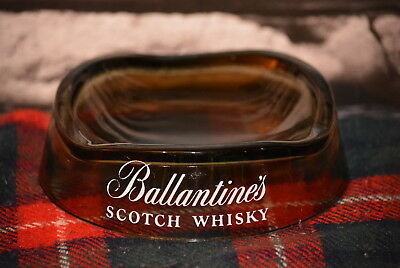 Ballantine´s Scotch Whisky Round Flat Ashtray Aschenbecher Glas #c0259