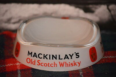 Mackinlay´s Old Scotch Whisky Round Flat Ashtray Aschenbecher Glas #c0258