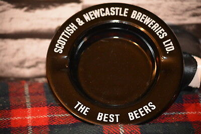 Scottish & Newcastle Breweries Ltd. Best Beers Ashtray Aschenbecher Glas #c0265