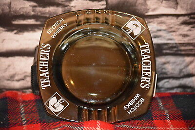 Teacher`s Scotch Whisky Ashtray Aschenbecher Keramik Glas #c0244