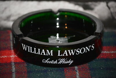 William Lawson´s Scotch Whisky Round Golf Ashtray Aschenbecher Glas #c0262