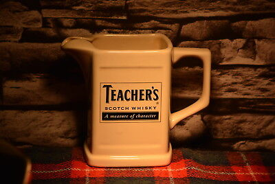 Teacher`s A Measure Of Charakter Scotch Whisky Water Jug Wasser Krug #c0202