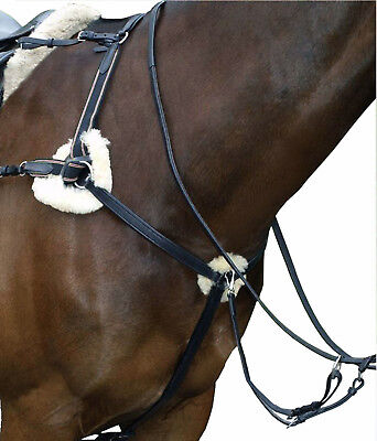 NEW 5 POINT BREASTPLATE BLACK/BROWN LEATHER Pressure PADS X FULL/FULL/COB/PONY