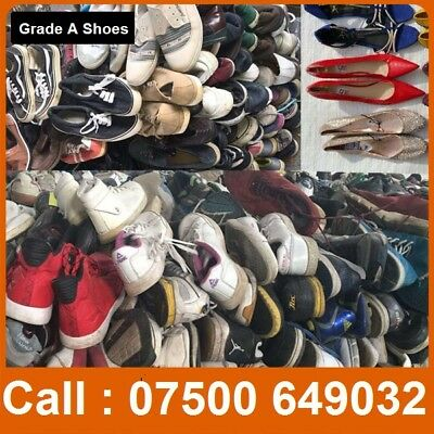 Grade A shoes in sacks of 20 kilo perfect for export, ladies men and kids