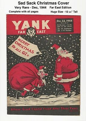 YANK MAGAZINE - SAD SACK and SANTA CLAUSE - RARE FAR EAST Edition - DEC 1944
