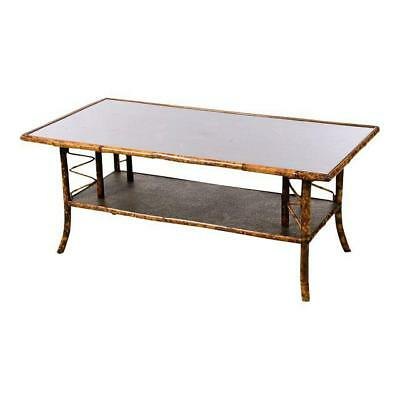 19th century English Bamboo Coffee Table w/Beautiful Lacquered top
