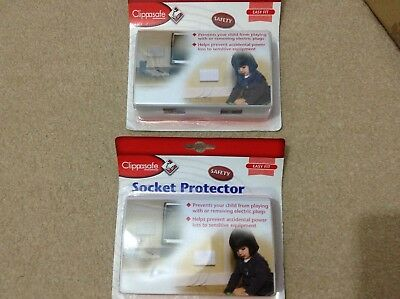 Clip safe socket protector twin pack