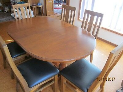 Pine extension table & 6 chairs.  Kellyville NSW
