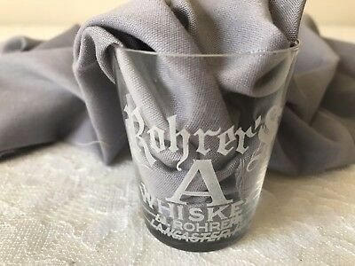 Pre Prohibition ROHER'S WHISKEY SHOT GLASS LANCASTER PA