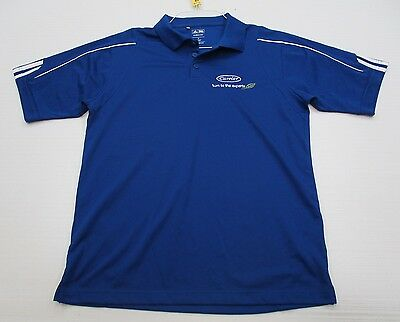 ADIDAS #T3973 Men's Size S Athletic GOLF CLIMALITE Short Sleeve Blue Polo Shirt