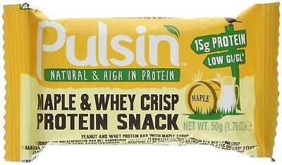 Pulsin Maple and Whey Crisp Protein Snack, 50 g. Shipping Included
