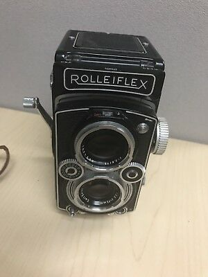 Vintage Rolleiflex 3.5 MX EVS Camera -Carl Zeiss lens, leather case, xtra filter