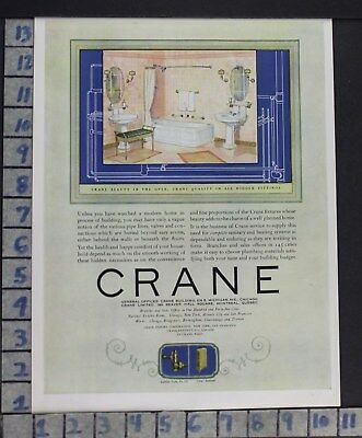 1924 Crane Bathroom Fixture Design Interior Home Decor Vintage Art Ad  Cz81