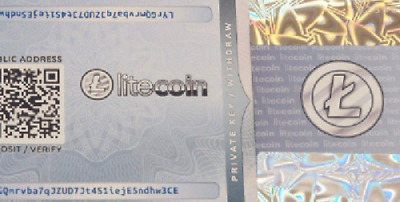 Litecoin Physical Wallet Paper - Ready for deposit