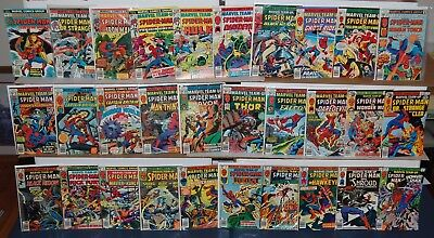 MARVEL TEAM-UP Spider-Man #49-96 Marvel Bronze Age Comic 30pc Run Lot GREAT DEAL