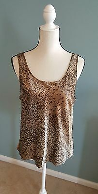 Victoria's Secret animal print silky feel camisole size large