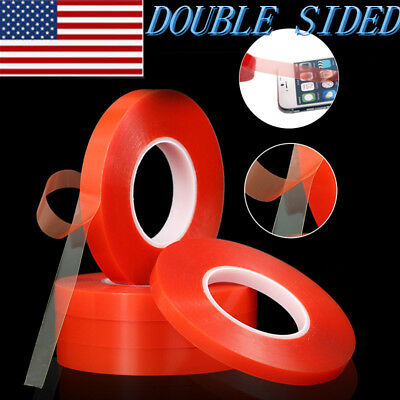 25M RED 3M Transparent DOUBLE SIDED STICKY ADHESIVE TAPE Car Cell Phone Repair