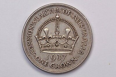Australia 1937 Silver Crown .99c NO RESERVE
