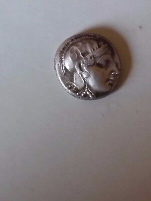 Greek Athena Silver Drachm Ancient Greek Coin