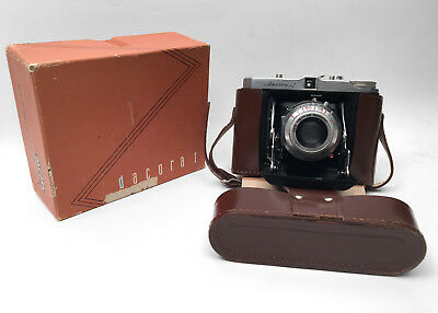 Vintage Dacora I folding Camera Made in Germany Leather Case and Original Box