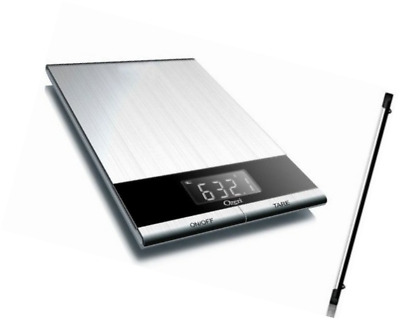 Ozeri Ultra Thin Professional Digital Kitchen Food Scale, in Elegant Stainless S