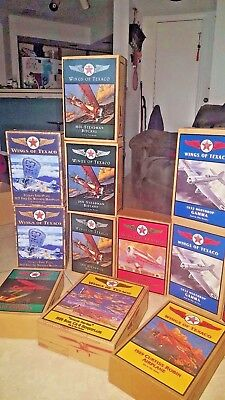 Texaco 15 Collectible Die Cast Plane Banks  New In Box-Never Used Or Displayed