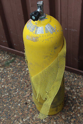 Yellow Aluminium Scuba Dive Tank Sea Hornet