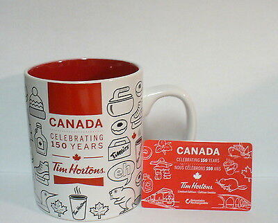 Tim Hortons Ceramic Canada 150 Years Mug