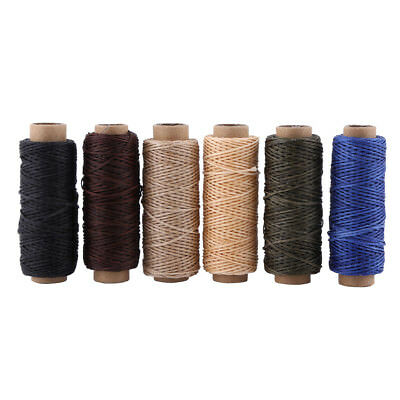 6 Colors 150D 1mm Leather Sewing Flat Waxed Thread String DIY Stitching Craft OB