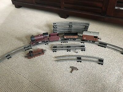 Antique Hornby Clockwork Train Set