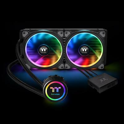 Thermaltake Floe Riing 280 RGB All-In-One 140mm x2 Cooler CL-W167-PL14SW-A