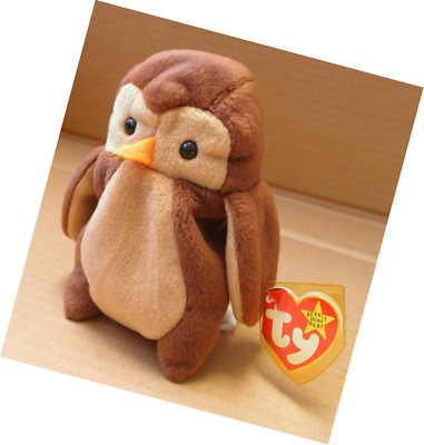 TY Beanie Babies Hoot the Owl Stuffed Animal Plush Toy - 5 inches tall