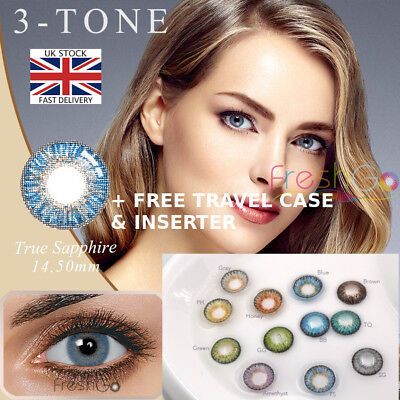 1 Pair Contact Lenses Fashion Cosmetic Party Makeup Lenses UK