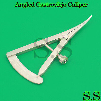 """Angled Castroviejo Caliper 0 TO 20 MM 3.25"""" (8.3cm) Surgical Dental Instruments"""