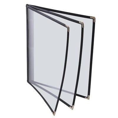 "30pcs 8-1/2""x14"" Clear Restaurant Menu Cover Folder 6 View 27441"