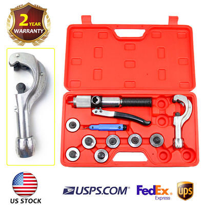 Hydraulic Tubing Expander Tool 7 Lever Swaging HVAC Tools Kit Tube Piping Pipe