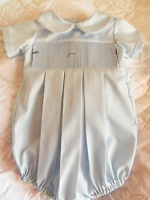 Ready To Smock Boy Bubble Suit Blue  Size 3 Months